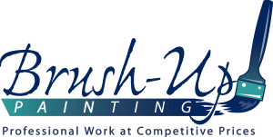 Logo for brush up painting contractor